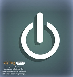Power sign icon switch symbol on the blue-green vector