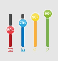 Graph color info graphic modern template vector