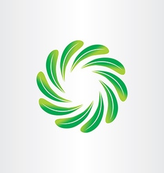 Eco green leaf circle abstract background element vector