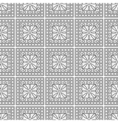 Symmetrical geometric black and white background vector