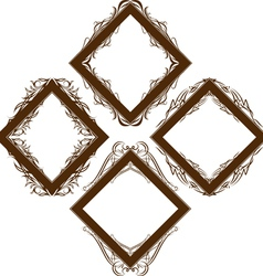 a set of decorative frames vector image