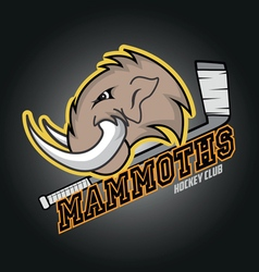Modern professional mammoths logo for a club vector