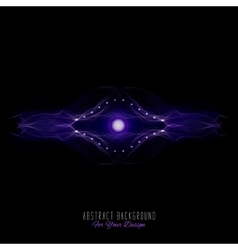 Abstract alien organism or cell black and purple vector