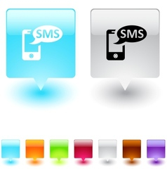 SMS square button vector image