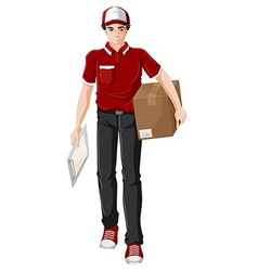 A delivery man vector image vector image