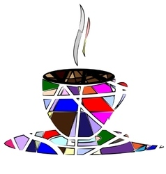 abstract cup of tea vector image vector image