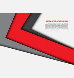 abstract red gray arrow overlap white vector image vector image