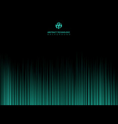 abstract technology green light lazer lines vector image vector image