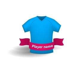 Blue sports shirt icon cartoon style vector