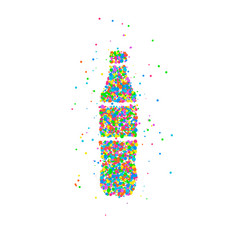 Bottle abstract soda vector