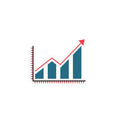 Business growing graph solid icon infographic vector