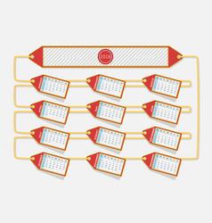 calendar 2018 red label design vector image vector image