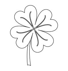Clover icon outline style vector image vector image