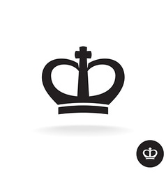 Crown rounded black simple icon vector image