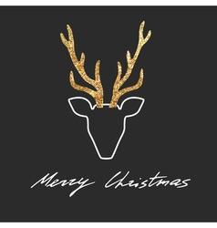 deer postcard vector image
