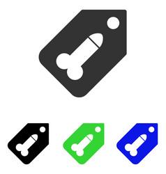 Dildo tag flat icon vector