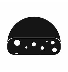 Dutch cheese icon simple style vector