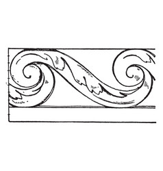 Evolute spiral trellis is made out of wrought vector