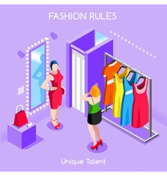 Fashion Moods 01 People Isometric vector image