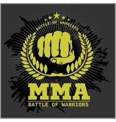 Fight club mma mixed martial arts vector