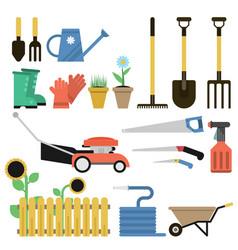 gardener flat set vector image