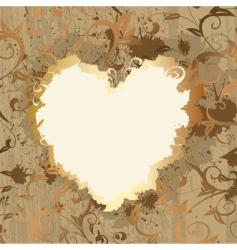 gold frame Valentine's vector image vector image