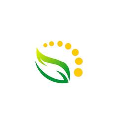 Green leaf beauty organic logo vector