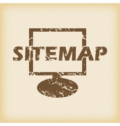 Grungy sitemap icon vector