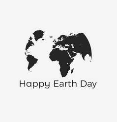 happy earth day continents of planet earth vector image vector image