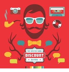 Hipster signs elements vector