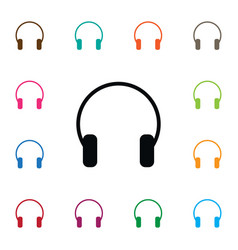 isolated listen icon earmuff element can vector image vector image