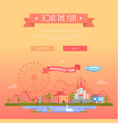 join the fun - modern vector image