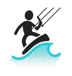 Kite boarding icon vector image vector image