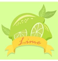 Lime fruit banner vector