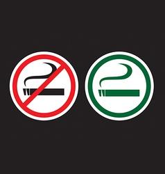 No Smoking and Smoking Zone vector image