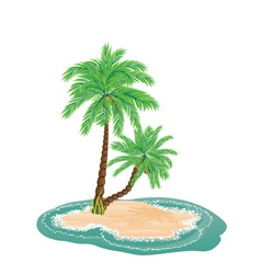 Palm Tree on Island6 vector image vector image
