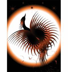 phoenix rising vector image