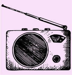portable radio vector image