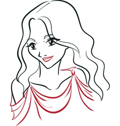 Portrait of greek woman vector image vector image