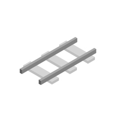 Railroad isometric 3d icon vector
