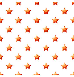 Red star pattern vector