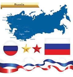 Russian Federation Set vector image
