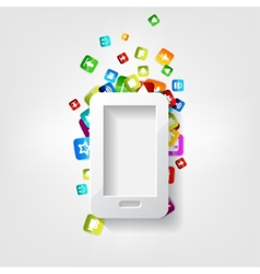 Smartphone Icon Cellphone Application button vector image vector image