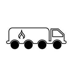 Truck oil transport icon vector