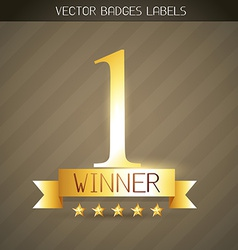 winner golden label vector image