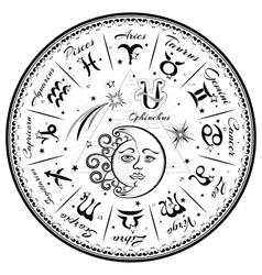 Zodiac signs horoscope vector