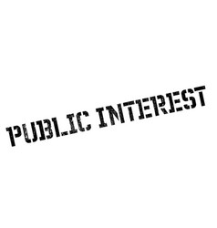 Public interest rubber stamp vector