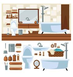 Bathroom decoration concept vector