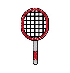Scribble sport racket cartoon vector