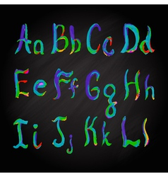 Alphabet multicolored vector